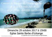 Concert Caritatif Septuor et Chorale à Uckange 57270 Uckange du 29-10-2017 à 15:00 au 29-10-2017 à 17:00