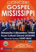 Concert Gospel Mississippi à Saint-Max 54130 Saint-Max du 03-12-2017 à 15:00 au 03-12-2017 à 17:30