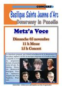 Concert Metz'a Voce à Domrémy  88630 Domrémy-la-Pucelle du 05-11-2017 à 09:00 au 05-11-2017 à 15:00