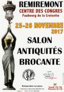 Salon des Antiquités et Brocante à Remiremont 88200 Remiremont du 25-11-2017 à 14:00 au 26-11-2017 à 18:00