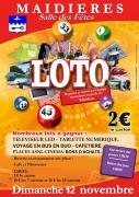 Loto à Maidières 54700 Maidières du 12-11-2017 à 14:00 au 12-11-2017 à 18:00