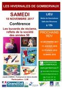 Conférences les Buvards de Réclame à Gombervaux 55140 Vaucouleurs du 18-11-2017 à 15:00 au 18-11-2017 à 18:00