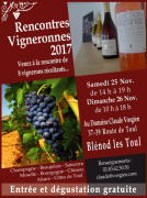Les Rencontres Vigneronnes à Blénod-lès-Toul 54113 Blénod-lès-Toul du 25-11-2017 à 14:00 au 26-11-2017 à 18:00