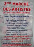 Marché des Artistes à Sarreguemines 57200 Sarreguemines du 25-11-2017 à 10:00 au 26-11-2017 à 19:00
