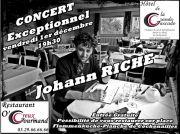 Concert Johann Riche au Tholy 88530 Le Tholy du 01-12-2017 à 19:30 au 01-12-2017 à 23:00