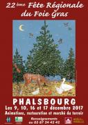 Fête Régionale du Foie Gras à Phalsbourg  57370 Phalsbourg du 09-12-2017 à 10:00 au 17-12-2017 à 19:00