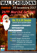 Marché de Noël Walschbronn au Clair de Lune  57720 Walschbronn du 25-11-2017 à 15:00 au 25-11-2017 à 23:59