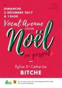 Vocal'Avenue Chante Noël à Bitche 57230 Bitche du 03-12-2017 à 15:30 au 03-12-2017 à 17:30