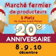Marché de Noël Fermier à Metz 57000 Metz du 08-12-2017 à 14:00 au 10-12-2017 à 18:00