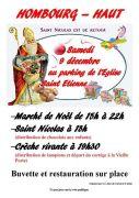 Marché de Noël et Saint Nicolas à Hombourg-Haut 57470 Hombourg-Haut du 09-12-2017 à 15:00 au 09-12-2017 à 22:00