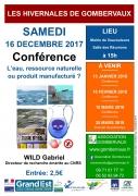 Conférence sur l'Eau à Vaucouleurs  55140 Vaucouleurs du 16-12-2017 à 15:00 au 16-12-2017 à 18:00