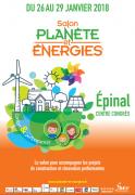 Planète Energies Epinal Salon des économies d'énergie 88000 Epinal du 26-01-2018 à 10:00 au 29-01-2018 à 19:00