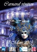 Carnaval Vénitien de Remiremont Centre-ville de Remiremont 88200 REMIREMONT du 15-03-2018 à 19:00 au 18-03-2018 à 17:00