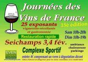Journées des Vins de France à Seichamps 54280 Seichamps du 03-02-2018 à 10:00 au 04-02-2018 à 19:00
