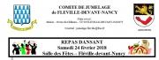 Repas Dansant à Fléville-devant-Nancy 54710 Fléville-devant-Nancy du 24-02-2018 à 20:00 au 25-02-2018 à 03:00