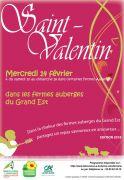 Repas Saint Valentin Fermes Auberges Grand Est Moselle, Meurthe-et-Moselle et Vosges du 10-02-2018 à 12:00 au 18-02-2018 à 22:00