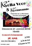 Concert Colla Voce & Compagnie à Thaon-les-Vosges 88150 Thaon-les-Vosges du 21-01-2018 à 15:00 au 21-01-2018 à 18:00
