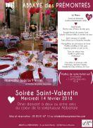 Saint Valentin à l'Abbaye des Prémontrés 54700 Pont-à-Mousson du 14-02-2018 à 17:30 au 15-02-2018 à 00:00