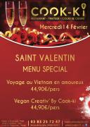 3 Idées Saint-Valentin Nancy au Restaurant Cook-Ki 54000 Nancy du 14-02-2018 à 19:00 au 14-02-2018 à 23:59