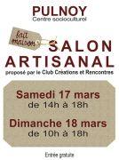 Salon Artisanal à Pulnoy 54420 Pulnoy du 17-03-2018 à 14:00 au 18-03-2018 à 18:00