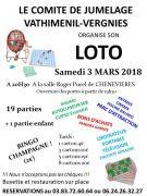Loto à Chenevièvres 54122 Chenevières du 03-03-2018 à 20:30 au 03-03-2018 à 23:30