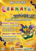 Carnaval de Bitche  57230 Bitche du 03-03-2018 à 14:00 au 04-03-2018 à 17:00