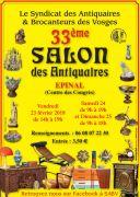 Salon des Antiquaires Epinal 88000 Epinal du 23-02-2018 à 14:00 au 25-02-2018 à 17:00