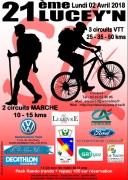 Parcours VTT et Marche à Lucey 54200 Lucey du 02-04-2018 à 07:30 au 02-04-2018 à 13:00