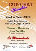 Concert Choeur d'Hommes à Nancy 54000 Nancy du 24-02-2018 à 20:30 au 24-02-2018 à 22:00