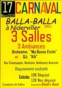 Soirée Carnaval Balla-Balla à Niderviller 57565 Niderviller du 17-03-2018 à 20:11 au 18-03-2018 à 03:00