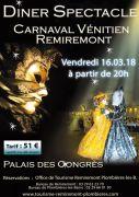 Dîner-Spectacle Carnaval Vénitien à Remiremont 88200 Remiremont du 16-03-2018 à 20:00 au 16-03-2018 à 23:59