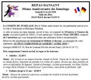 Repas dansant à Fléville-devant-Nancy 54710 Fléville-devant-Nancy du 14-04-2018 à 20:00 au 15-04-2018 à 03:00