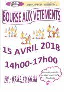 Bourse aux Vêtements à Guénange 57310 Guénange du 15-04-2018 à 14:00 au 15-04-2018 à 17:00