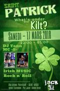Concert Saint-Patrick What's under your Kilt à Saint-Avold 57500 Saint-Avold du 17-03-2018 à 22:00 au 18-03-2018 à 05:00