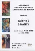 Exposition Aquarelles et autres Mediums à la Galerie 9 Nancy 54000 Nancy du 15-03-2018 à 14:00 au 21-03-2018 à 18:30