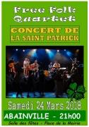 Soirée Saint-Patrick avec Free Folk Quartet à Abainville 55130 Abainville du 24-03-2018 à 21:00 au 24-03-2018 à 23:00