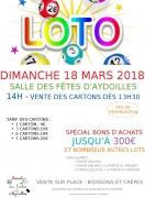 Loto à Aydoilles 88600 Aydoilles du 18-03-2018 à 13:30 au 18-03-2018 à 17:30
