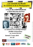 Conférence Montage Cinématographique Saint-Nicolas-de-Port 54210 Saint-Nicolas-de-Port du 17-03-2018 à 14:30 au 17-03-2018 à 17:00