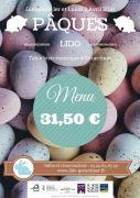 Menu de Pâques au Lido de Gérardmer 88400 Gérardmer du 01-04-2018 à 12:00 au 02-04-2018 à 15:00