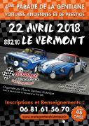 Voitures Anciennes Vosges Parade de la Gentiane 88210 Le Vermont du 22-04-2018 à 07:30 au 22-04-2018 à 18:00