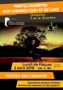 Portes Ouvertes aux Cabanes Cosy et Luxe Nids des Vosges 88640 Champdray du 02-04-2018 à 14:00 au 02-04-2018 à 18:00