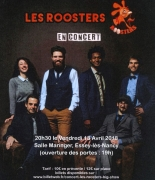 Concert Les Roosters à Essey-lès-Nancy 54270 Essey-lès-Nancy du 13-04-2018 à 19:00 au 13-04-2018 à 23:00