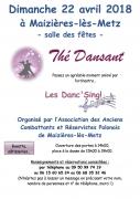 Thé Dansant à Maizières-lès-Metz 57280 Maizières-lès-Metz du 22-04-2018 à 15:00 au 22-04-2018 à 19:00
