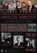 Soirée variété/chanson française à Laxou 54520 Laxou du 12-05-2018 à 20:30 au 12-05-2018 à 22:30