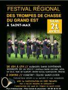Festival des Trompes de Chasse du Grand Est à Saint-Max 54130 Saint-Max du 21-04-2018 à 15:00 au 21-04-2018 à 22:30