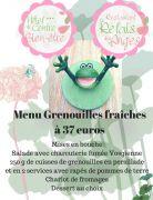 Menu Grenouilles au Relais des Anges à Rupt-sur-Moselle 88360 Rupt-sur-Moselle du 12-04-2018 à 12:00 au 30-04-2018 à 23:00