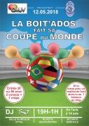 Soirée Boit'ados Spéciale Coupe du Monde à Vittel 88800 Vittel du 12-05-2018 à 19:00 au 13-05-2018 à 01:00