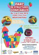Structures Gonflables à Neufchâteau Vacances de Printemps 88300 Neufchâteau du 03-05-2018 à 13:30 au 05-05-2018 à 19:00