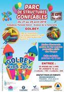 Structures Gonflables à Golbey Vacances de Printemps 88190 Golbey du 27-04-2018 à 13:30 au 29-04-2018 à 19:00