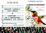 Concert Just Brass et Orchestre Sainte Cécile à Uckange 57270 Uckange du 04-05-2018 à 20:30 au 04-05-2018 à 23:00